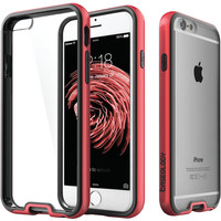Caseology Iphone 6 And 6s Dual-bumper Clear Back Case (red)