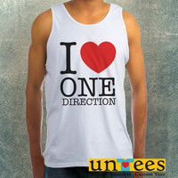 I Love One Direction Clothing Tank Top For Mens