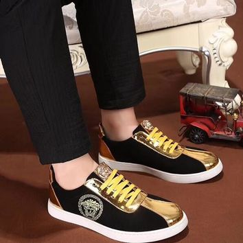 VERSACE men's shoes 2018 new embroidery shoes casual shoes