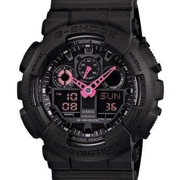 G-Shock GA-100C-1A4 Series Neon Highlights Watch