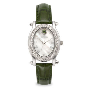 Croton Womens Stainless steel May Birthstone Mother of Pearl Watch