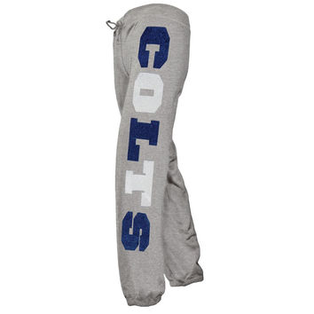 Indianapolis Colts - Glitter Hearts Girls Youth Sweatpants