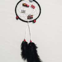 Disney Cars inspired Dreamcatcher featuring Lightning McQueen and Mater-kids bedroom gifts-wall-hanging decroation