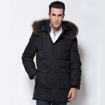 Fashion Parka Coat Men Winter Jacket Men's Male Thickening 80% White Duck Down Jacket Coat Down-Jacket Coats