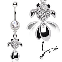 316L Surgical Steel Goldfish Navel Ring