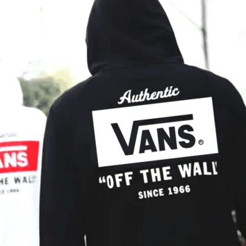Vans Fashion Casual Print Long Sleeve Hoodie Sweater