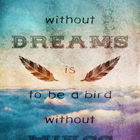 Dreams Are Wings Art Print by Diogo Verissimo