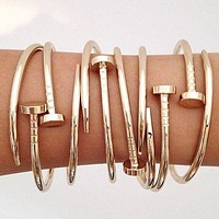 Cartier Nail Style Bracelet Stainless Steel Hand Chain