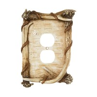 Big Sky Birch & Antler Outlet Cover