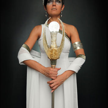 Goddess of the Moon- Women's Halloween Costume- Ancient Greek Goddess Artemis-Size S