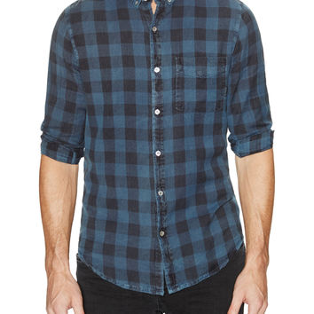 Neuw Denim Men's Bob Checked Sportshirt - Blue -