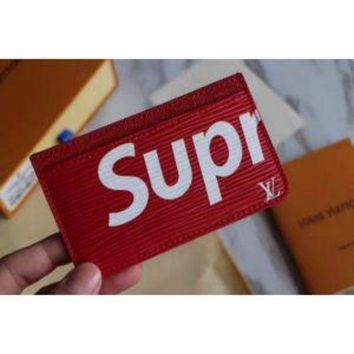 DCCK LOUIS VUITTON SUPREME WOMEN WALLET BAG CARD HOLDER PU