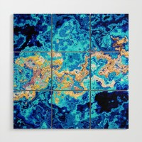 Abstract Marble Wood Wall Art by tmarchev