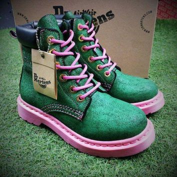 NOV9O2 Newest Dr. Martens Modern Classics 1460 Green Pink Boost