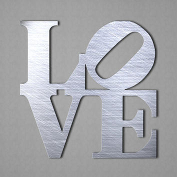 High Quality Love Metal Wall Art