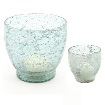 Corfu Glass Candle Holders