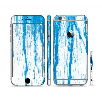 The Running Blue WaterColor Paint Sectioned Skin Series for the Apple iPhone 6 Plus