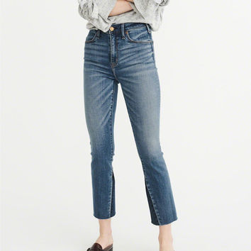 Womens High-Rise Ankle Flare | Womens Bottoms | Abercrombie.com