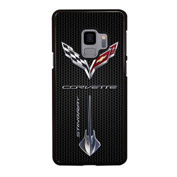 CORVETTE STINGRAY LOGO Samsung Galaxy S4 S5 S6 S7 S8 S9 Edge Plus Note 3 4 5 8 Case Cover