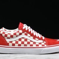 "HCXX OLD SKOOL ""PRIMARY CHECK"" - RACING RED"