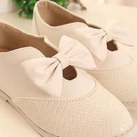 Pure Bowknot Lattice Elevator shoes