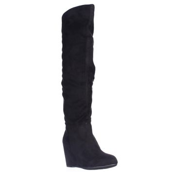 Chinese Laundry Unbelievable Knee High Wedge Boots, Black, 5 US / 35 EU
