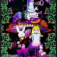 Alice In Wonderland Wonderland II Black Light Poster