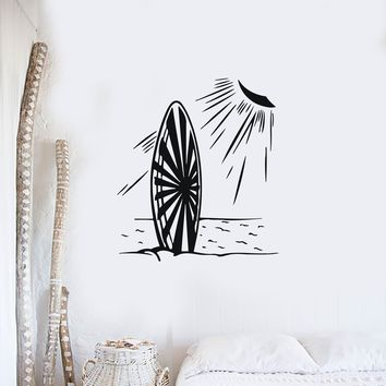 Wall Sticker Vinyl Decal Sea Sun Summer Beach Surf Relaxation Unique Gift (n278)
