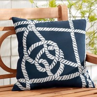 Outdoor Rope Print Pillow