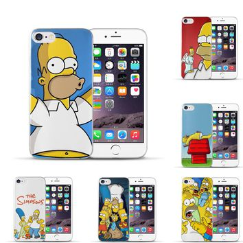 Silicone Case For iphone 7 7plus for iphone 5s 5 SE 6 6s 6plus Case TPU Case Simpson Phone Case