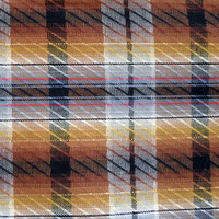 Vintage Cotton Fabric  Plaid with Metallic Gold Stripes 5 yards