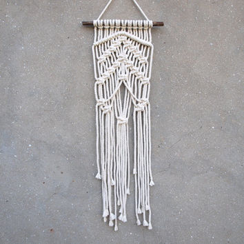 Macrame wall hanging Boho Wall tapestries Fiber art Driftwood Woven wall decor Eco-friendly housewarming gift Tribal home decor OOAK