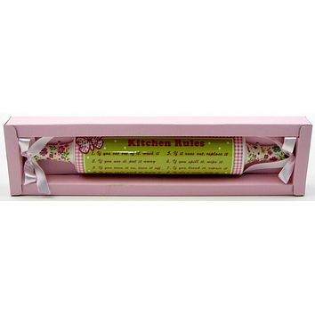 Kitchen & Dining Rules Rolling Pin Plaque
