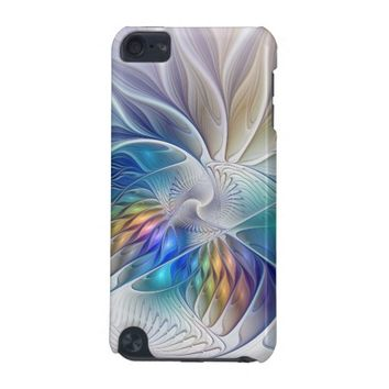 Floral Fantasy, abstract and modern Fractal Art iPod Touch (5th Generation) Covers
