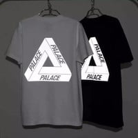 New Men's 3M Reflective Palace Skateboards T Shirt Good Quality 100% Cotton Hip Hop Palace T-Shirt Men Palace Tee Tshirt