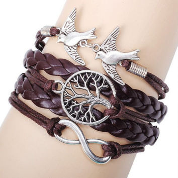NEW Hot Infinity Love Anchor Tree of Life Bracelet!