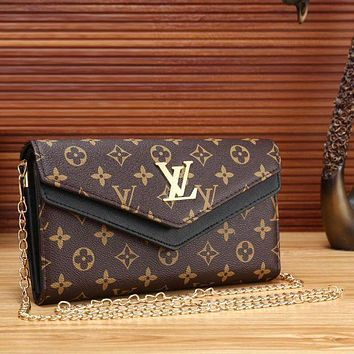 DCCKOB6D Louis Vuitton Women Fashion Leather Satchel Shoulder Bag Crossbody
