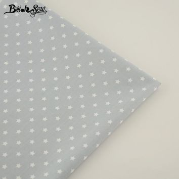 100% Cotton Fabric Gray Color Star Pattern Design Sewing Cloth Patchwork Bedding Tecido Children Cloth Bed Sheet DIY Decoration