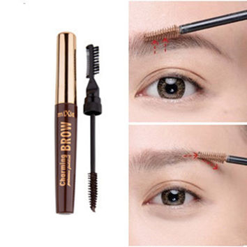 Star Recommend 2in1 Eyebrow Mascara Cream Eye Brow Shadow Makeup Set Kit Waterproof 3 Colors Dye Eyebrow Gel Enhancer Brown