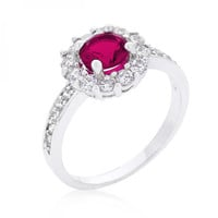 Bella Birthstone Engagement Ring In Pink