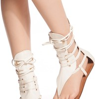 White Faux Leather Lace Up Sandals @ Cicihot Sandals Shoes online store sale:Sandals,Thong Sandals,Women's Sandals,Dress Sandals,Summer Shoes,Spring Shoes,Wooden Sandal,Ladies Sandals,Girls Sandals,Evening Dress Shoes