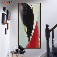 High Class Streamline Watercolor Chic Popular Abstraction Canvas Print Painting Poster, Home Decor Wall Picture For Living Room
