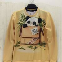 Animal Printed Harajuku Emoji Sweatshirts
