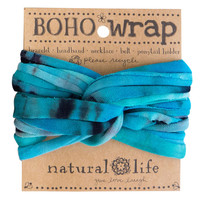 Boho Wrap in Turquoise Blue Tie-Dye by Natural Life