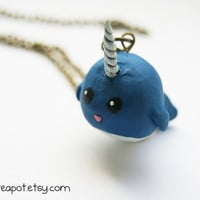 Lucy the Narwhal Necklace by CraftyTeapot on Etsy