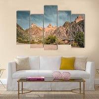 Charyn Grand Canyon With Clouds Multi Panel Canvas Wall Art