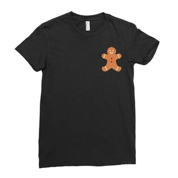 Ginger Bread Pocket Ladies Fitted T-Shirt