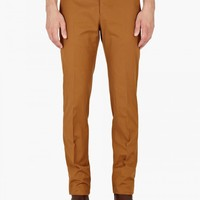 14 Rust Cotton-Twill Chino Trousers - OkiniUK