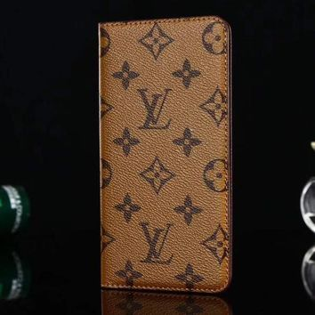 Louis Vuitton LV Leather Fashion iPhone Phone Cover Case For iphone 6 6s 6plus 6s-plus 7 7plus 8 8plus X-1