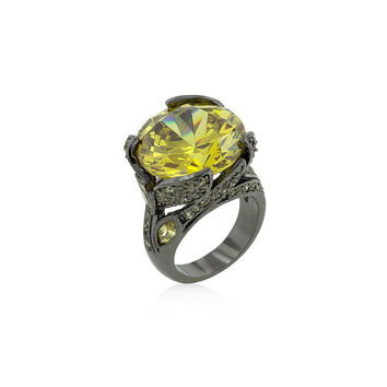 Le Chic Vintage Canary Blossom Cocktail Ring